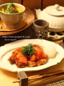 とまと照り焼きポークで和食おうちご飯