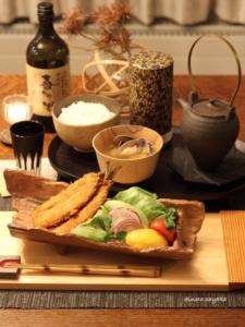 いわしのフライで和食おうちご飯