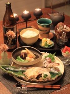 旬のカレイで和食晩ご飯